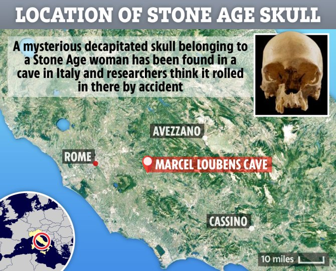 ac-map-stone-age-skull-italy-marcel-loubins-cave
