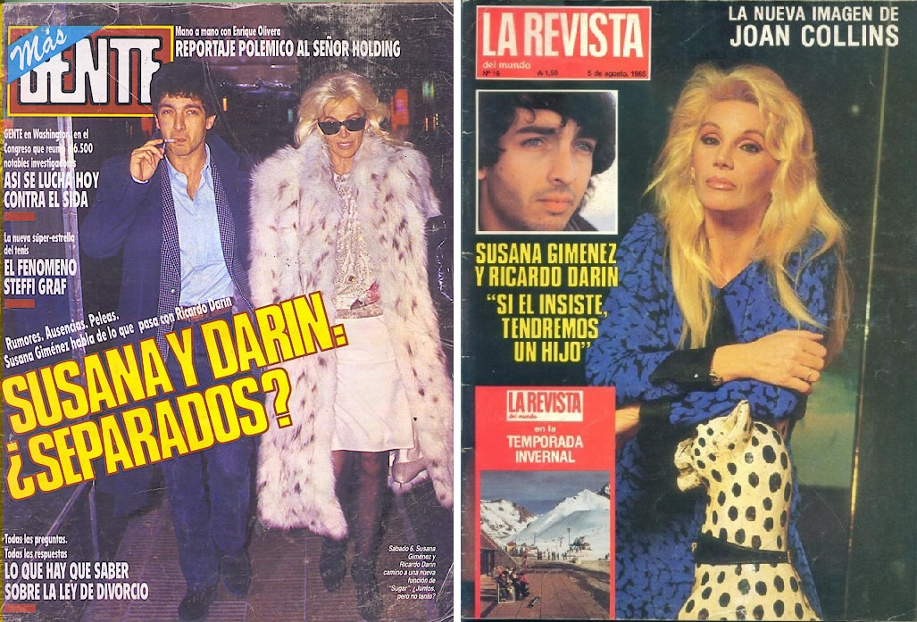 Susana gim nez y ricardo dar n detalles del romance m s for Revistas del espectaculo argentino