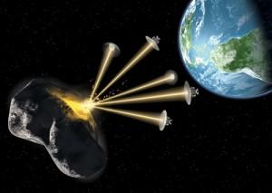 Láser contra asteroides