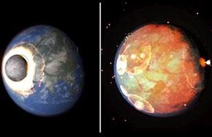 ¿Cómo sería si la Luna choca con la Tierra? Impactante animación genera gran interés
