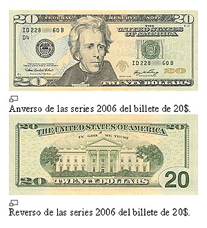 Billete 20 dólares