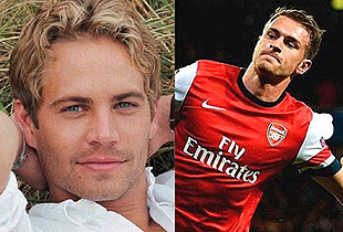 Aaron Ramsey y Paul Walker