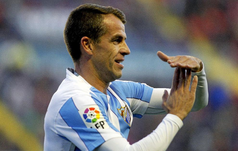 Duda, jugador portugués del Málaga en el año 2005.