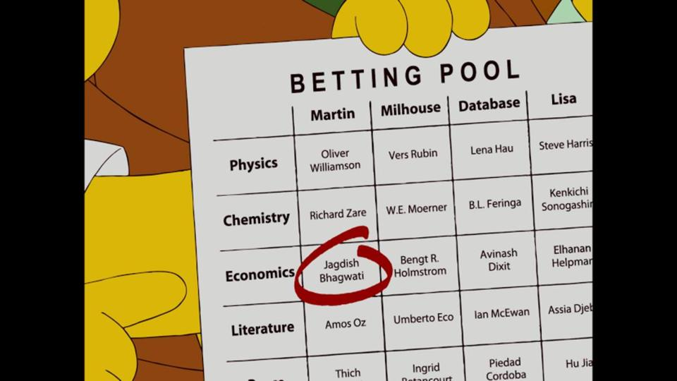Los simpsons nobel