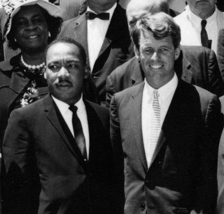 Martin Luther King y Robert Kennedy.