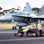 ¿Cuál es más rápido? Video muestra carrera entre un F18 y un Fórmula Uno