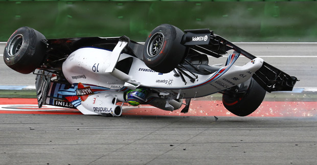 El espectacular accidente de Massa. (Foto: Reuters)