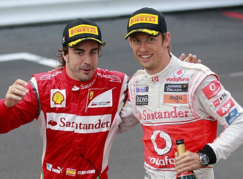 Alonso y Button