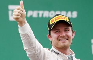 Rosberg gana en Brasil con sutil polémica