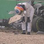 Milagrosa salvada de Alonso en la F-1: Vea su espectacular choque