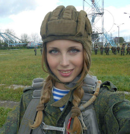 Hizo su bonita mujer rusa