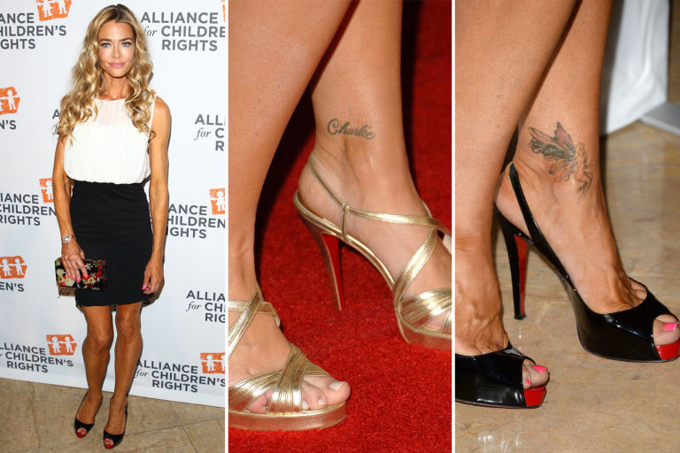 Denise Richards y su tatuaje de Charlie Sheen.