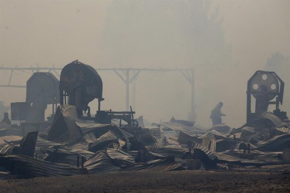 Chile incendios fotos