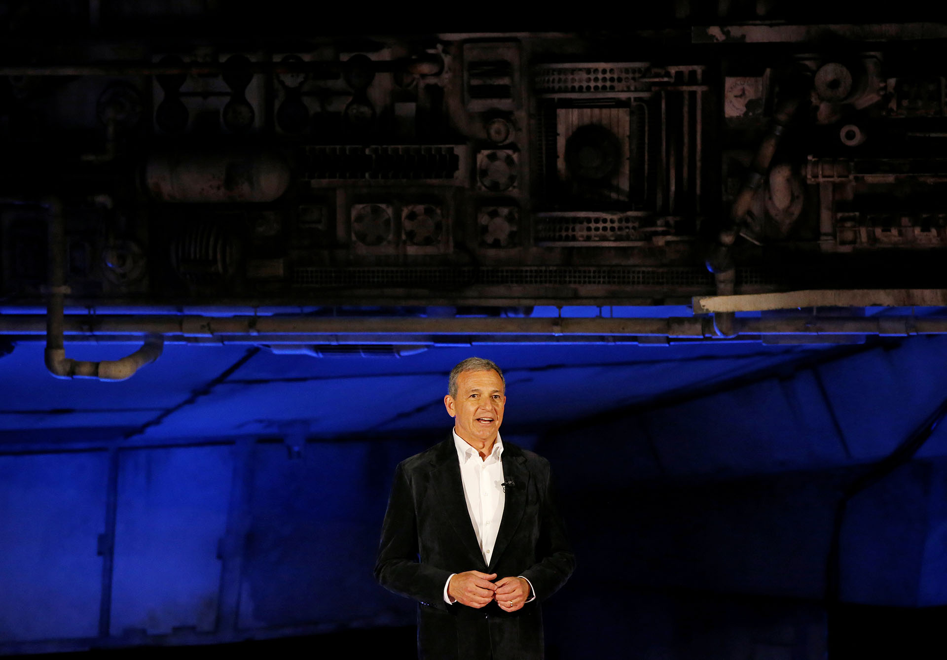 "Walt Disney's Chief Executive Officer Bob Iger speaks at ""Star Wars: Galaxy's Edge"" at Disneyland Park in Anaheim"