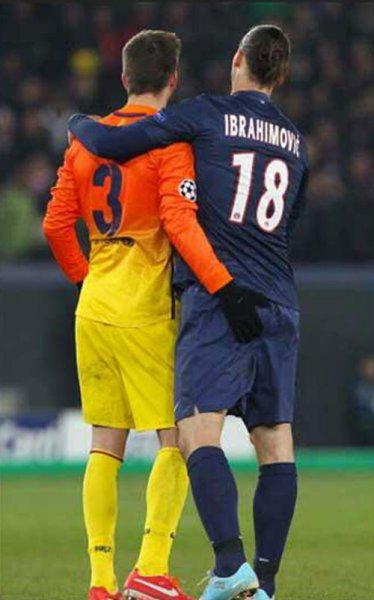 Piqué  Ibrahimovic