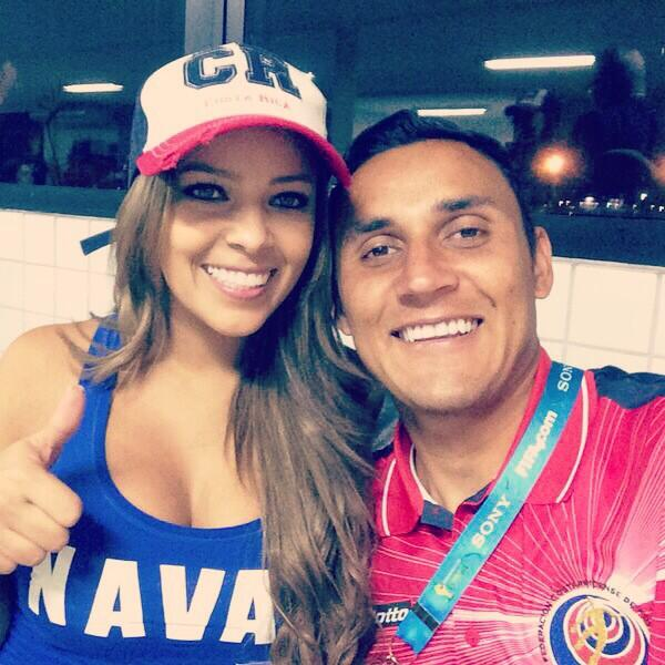Keylor Navas with beautiful, Wife Andrea Salas