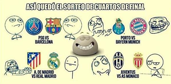 Sorteo de los Cuartos de la Champions League: Memes y burlas de las ...