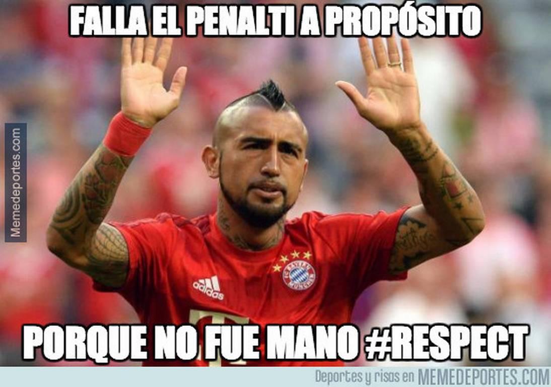 memes arturo vidal penal1 arturo vidal se pierde un penal con el real madrid burlescos memes