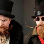 Hombres lucen sus extrañas barbas y bigotes en excéntrico campeonato mundial