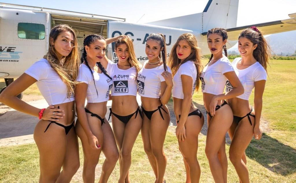Candidatas a Miss Reef 2017 se lanzan en paracaídas: Fotos ...