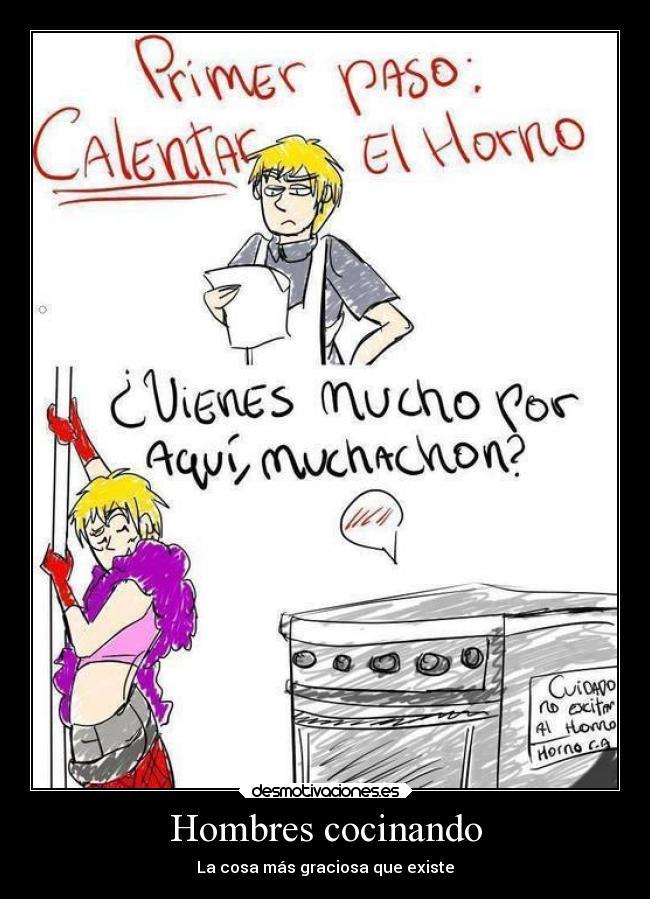 10 memes que reflejan lo que pasa cuando los hombres deciden entrar a la cocina hombres - Carteles de cocina ...