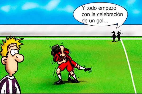 Resultado de imagen de chistes graficos futbol