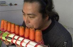 Los instrumentos musicales más insólitos: Fabricados con vegetales