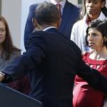 Obama, el salvador: Ayudó a diabética embarazada que casi se desmaya