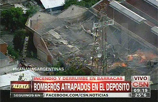 Incendio en Barracas Argentina