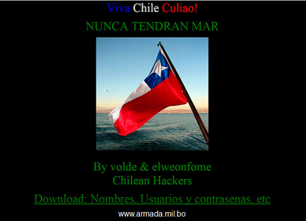 Hackers Chile Bolivia
