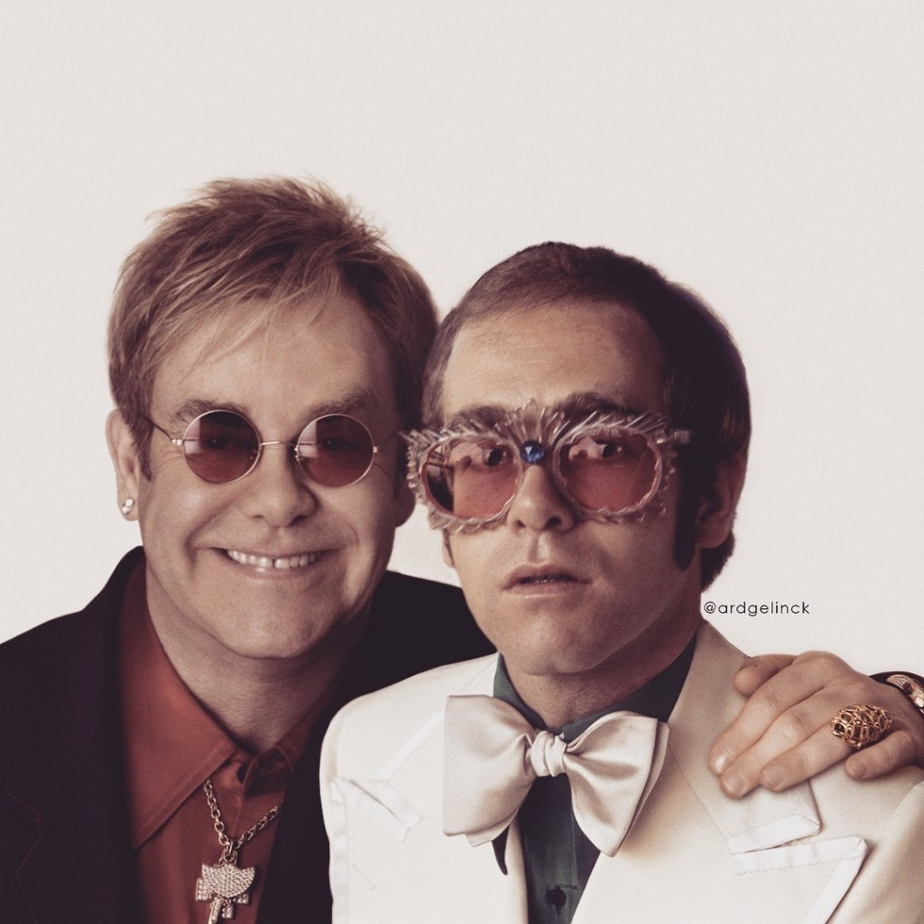 Elton-John-Posing-With-Younger-Self-Ard-Gelnick