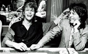 Bowie Mick Jagger