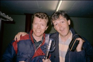 David Bowie y Paul Mc Cartney