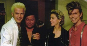 Idol, Madonna y david Bowie
