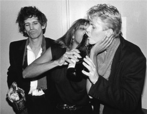Keith richards y David Bowie