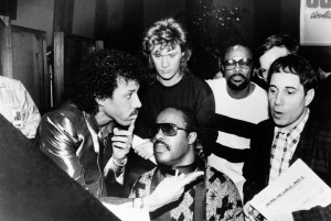 Richie, daryl hall, stevie wonder, quincey jones y Paul Simon