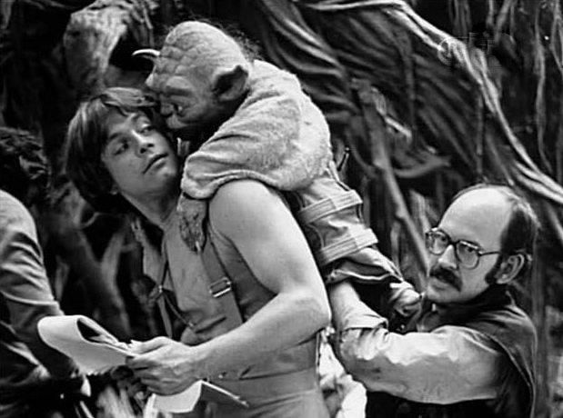 Mark Hamill (Luke Skywalker), Yoda y Frank Oz.