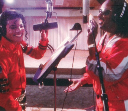 Jacko y Stevie Wonder