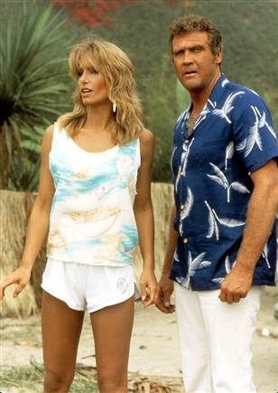 Heather Thomas y Lee Majors.