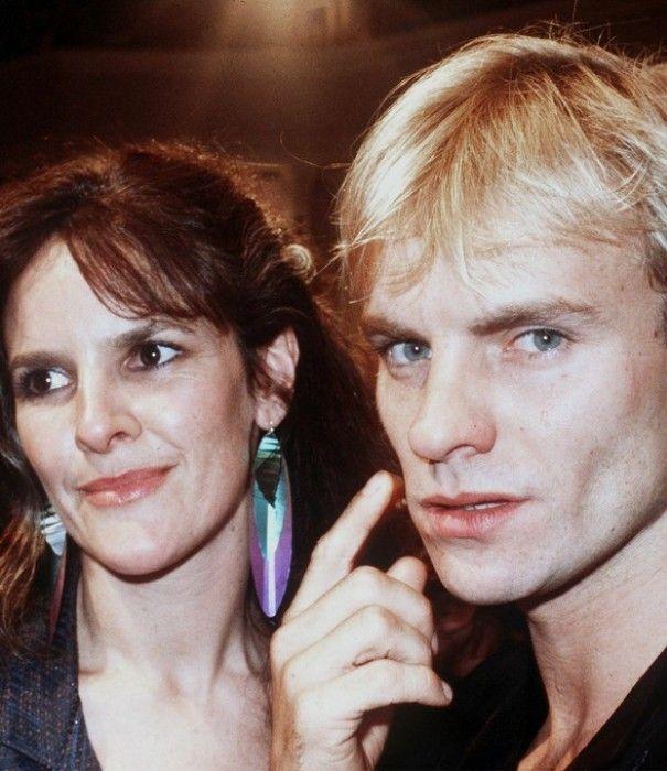 Sting junto a su primera esposa, la actriz Frances Tomelty.