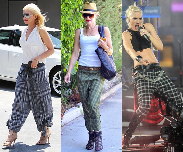 w gwen-stefani-plaid-pants