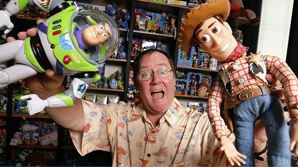 John Lasseter y los dos personajes que cambiaron su carrera profesional.