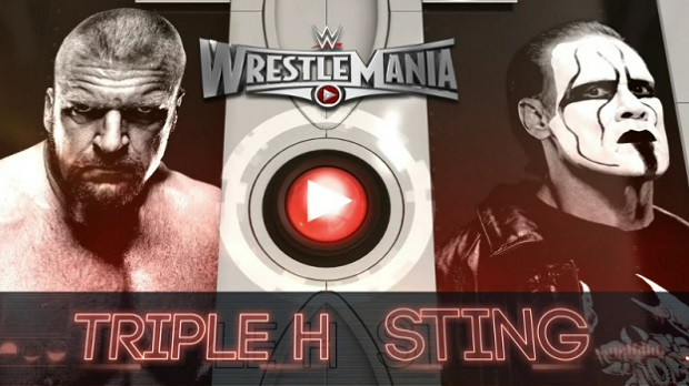 Triple H vs Sting en Wrestlemania 31.