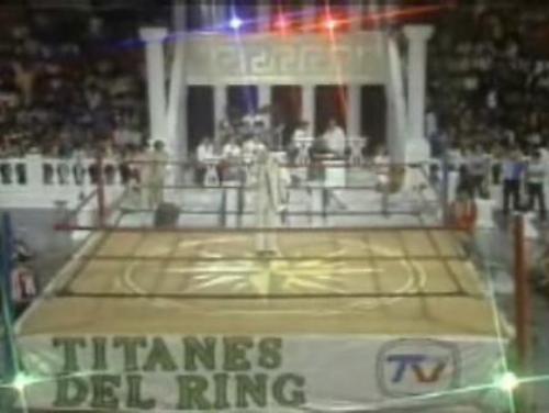 """El reconocido cuadrilátero de """"Titanes del Ring""""."""