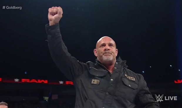 Goldberg en su regreso a RAW.