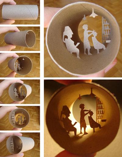 Arte En Rollos De Papel Higienico Creatividad Sin Limites - Manualidades-con-rollos-de-papel-higienico