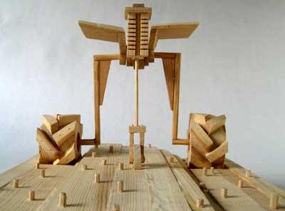Madera juguetes que expresan movimiento Manualidades y Artesana