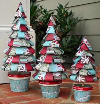 Arboles navide os hechos a mano manualidades y artesan a for Arboles de navidad manualidades navidenas