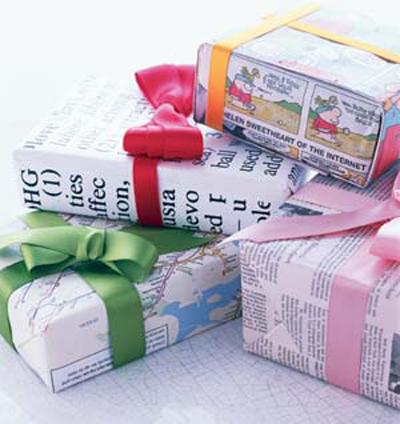 Navidad Cómo Envolver Regalos Con Papel De Diario Manualidades Y