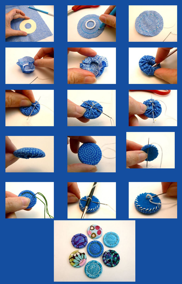 C mo hacer botones de tela manualidades y artesan a - Manualidades faciles con tela ...